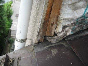 屋根・外壁の施行不良写真