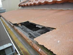 板金屋根の経年劣化写真
