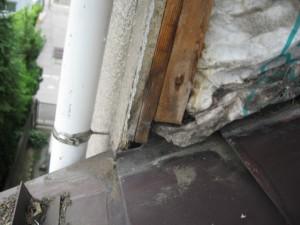 屋根壁取り合い雨漏り